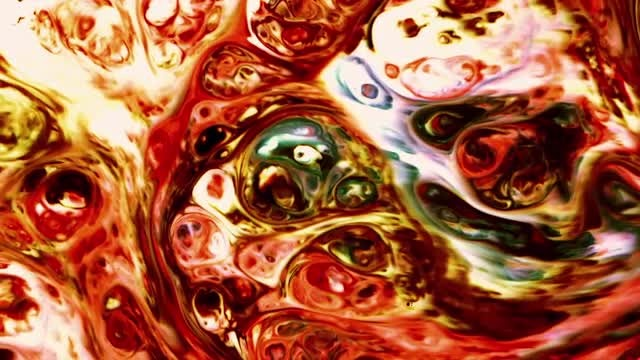Psychedelic Swirls Of Liquid Paints : Stock Video