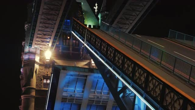 Tower Bridge Closing Lifts : Stock Video