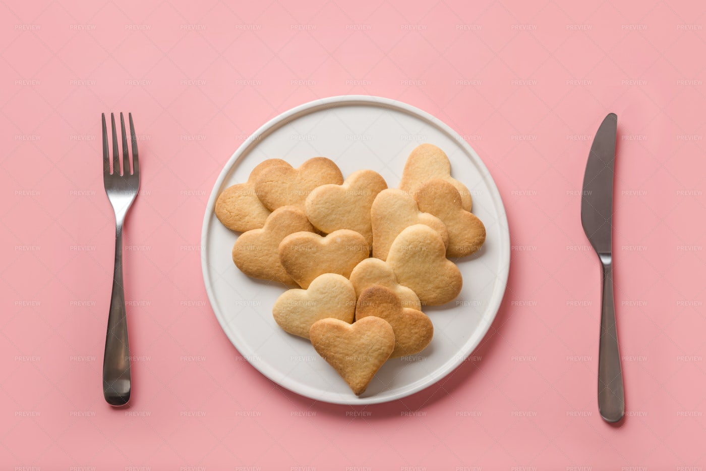 Cookies In A Plate: Stock Photos