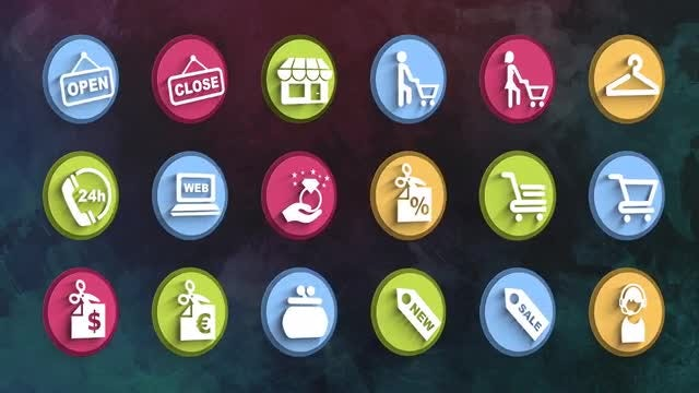 Ultimate Shopping Icons Pack: Stock Motion Graphics
