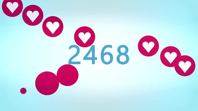 10,000 Heart Likes Counter: Stock Motion Graphics