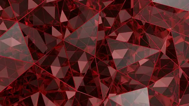 Red Kaleidoscope Glass Background: Stock Motion Graphics