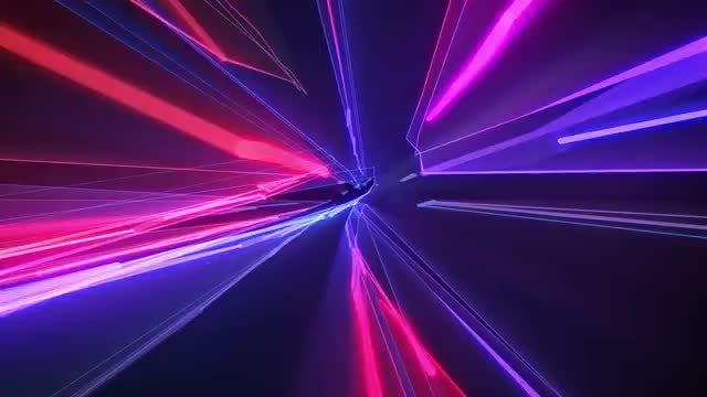 Warp Speed Laser Show: Stock Motion Graphics