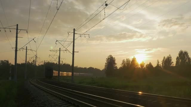 Train Passing A Rural Setting: Stock Video