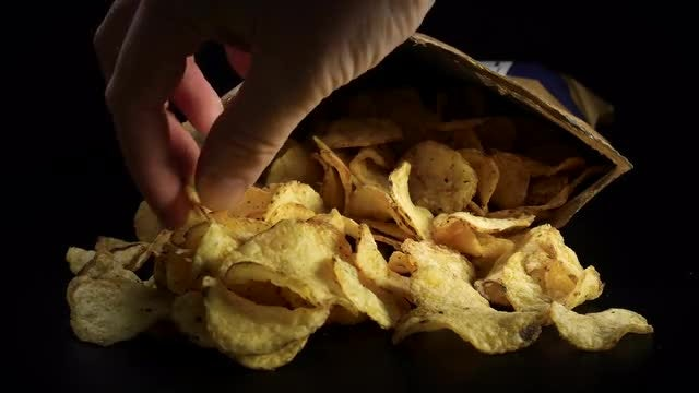 Delicious Potato Chips: Stock Video