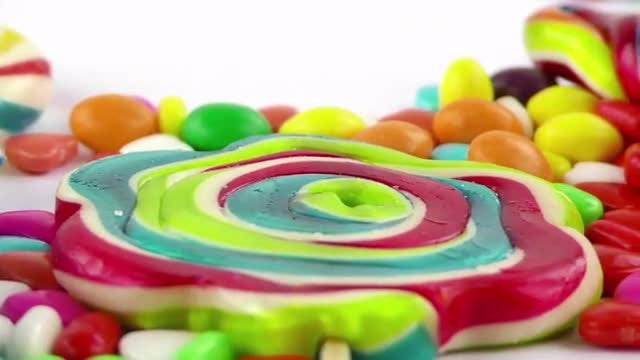 Colorful Sweet Candies Pack : Stock Video