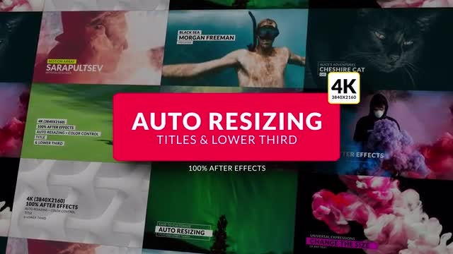 Auto Resizing - Titles & Lower Third: After Effects Templates