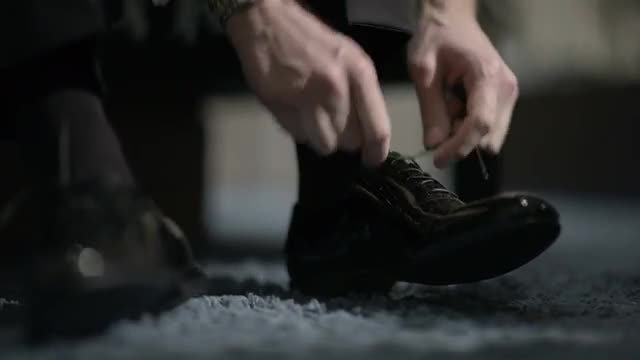 Man Tying Nice Shoes: Stock Video