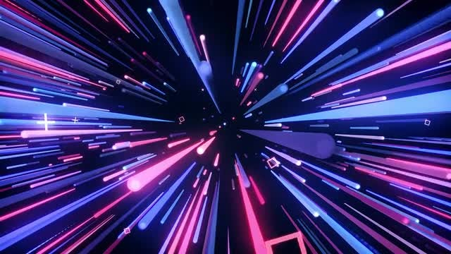 Blue And Pink Neon Tunnel: Stock Motion Graphics