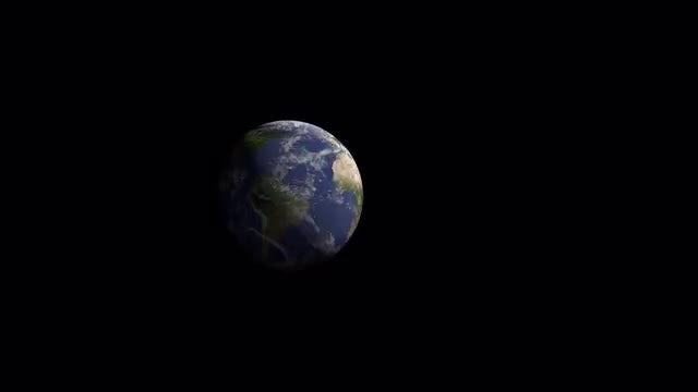 3D Realistic Planet Zoom In-Zoom Out: Stock Motion Graphics
