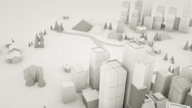 Low Poly City Loop: Stock Motion Graphics