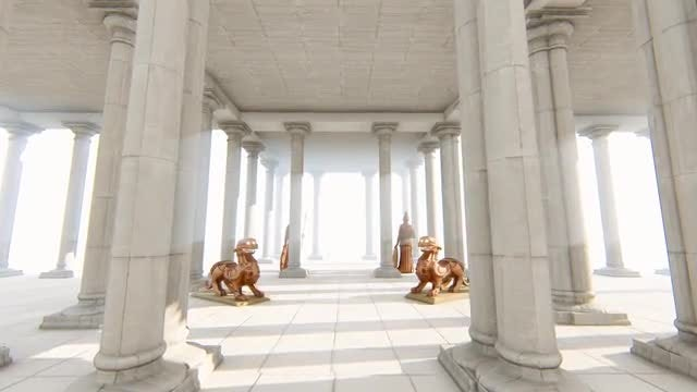Greek-Roman Architecture And Sculpture: Stock Motion Graphics