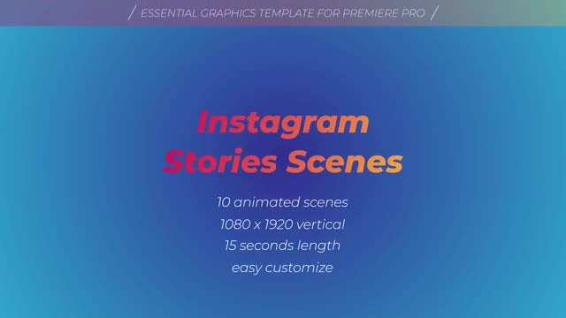 Instagram Stories Scenes: Motion Graphics Templates