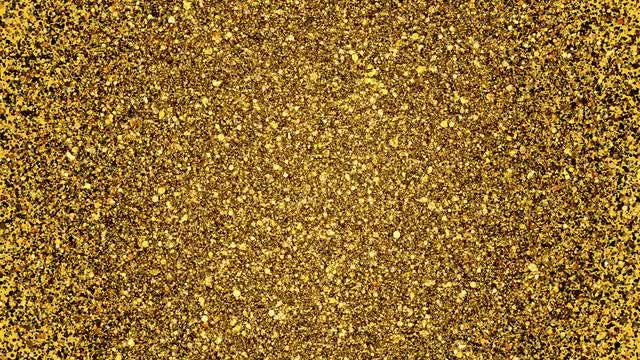 Golden Glitter Background Loop: Stock Motion Graphics
