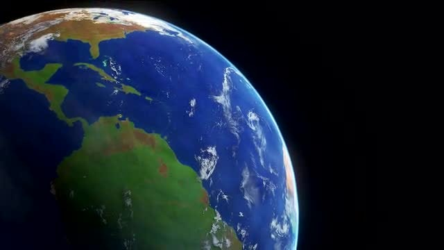 Planet Earth Timelapse with Fast Moving Cloudscape: Stock Motion Graphics