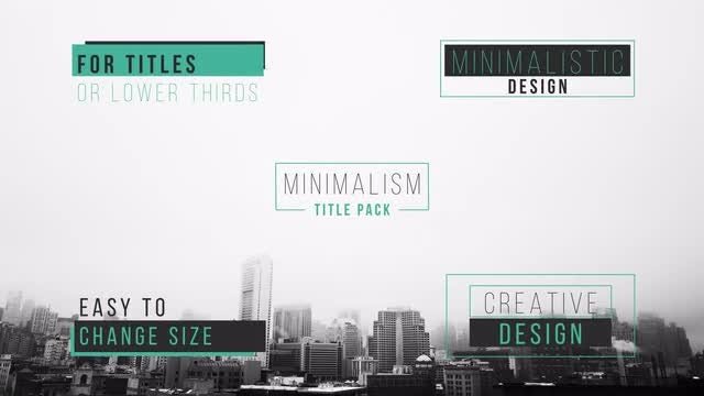 Minimal Titles & Lower Thirds 4K: After Effects Templates