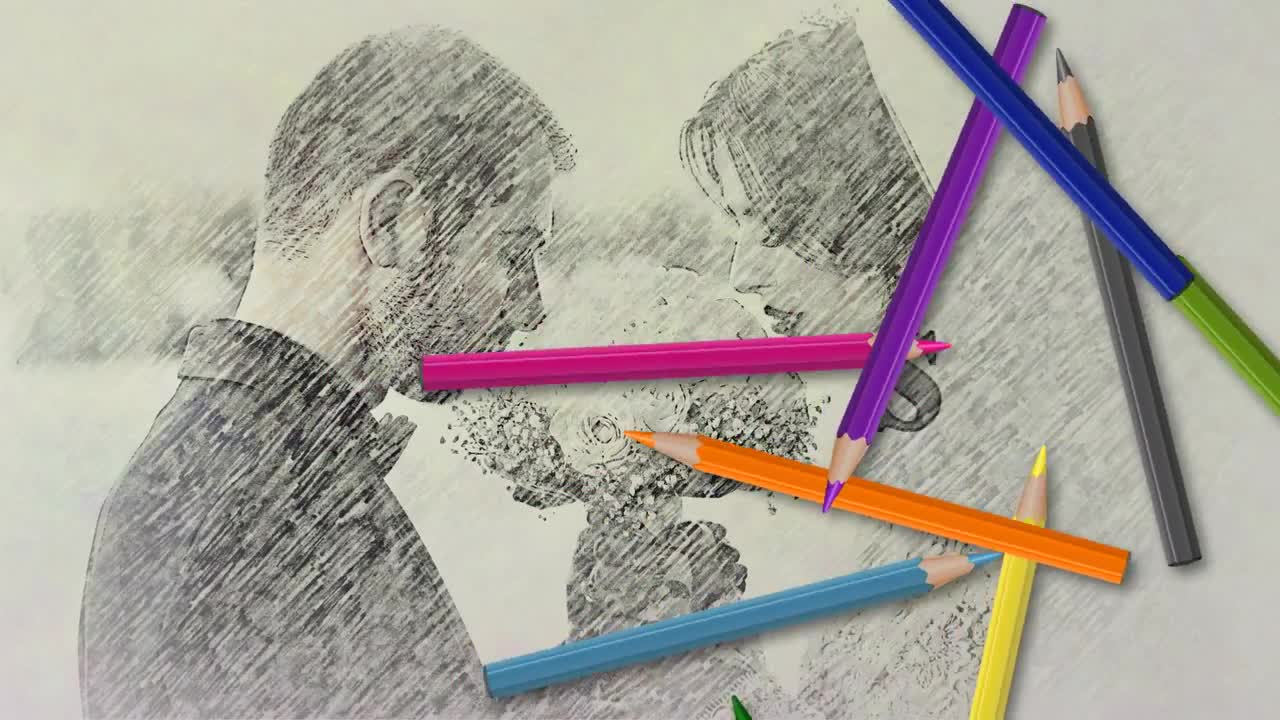 Pencil drawing after effects templates motion array