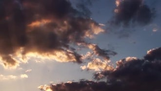 Beautiful Timelapse Clouds At Sunset: Stock Video