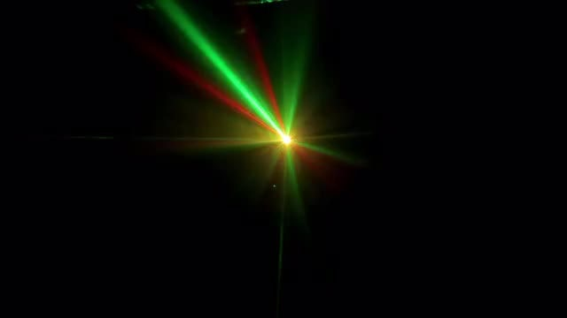 Colored Laser Rays In Lines: Stock Video