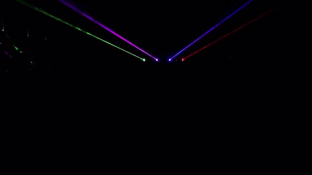 Colored Laser Rays : Stock Video