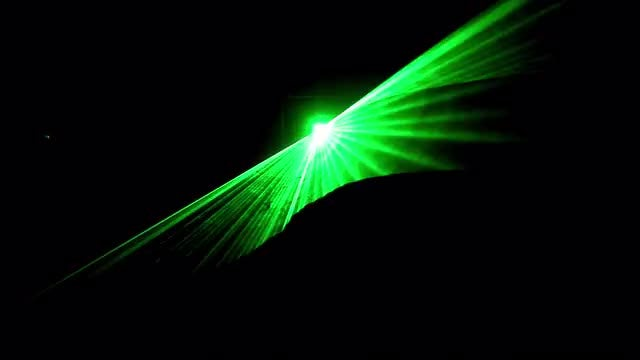Green Laser Hologram Show : Stock Video