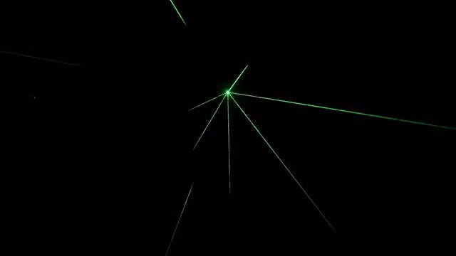 Laser Lights Hologram Show: Stock Video
