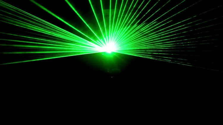 Green Laser Rays Show: Stock Video