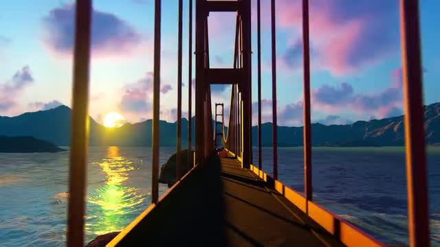 Golden Gate On The  Bridge : Stock Motion Graphics