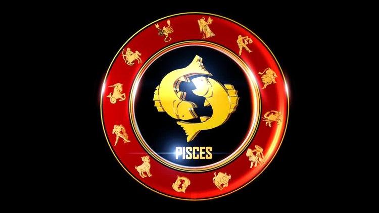 Indian Zodiac Pisces Symbol Stock Motion Graphics Motion Array