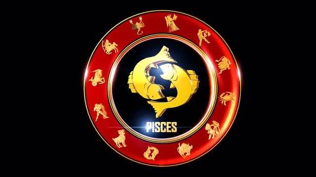 Indian Zodiac Pisces  Symbol: Stock Motion Graphics