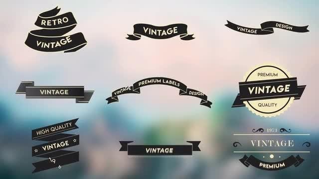 Vintage Labels: Motion Graphics Templates