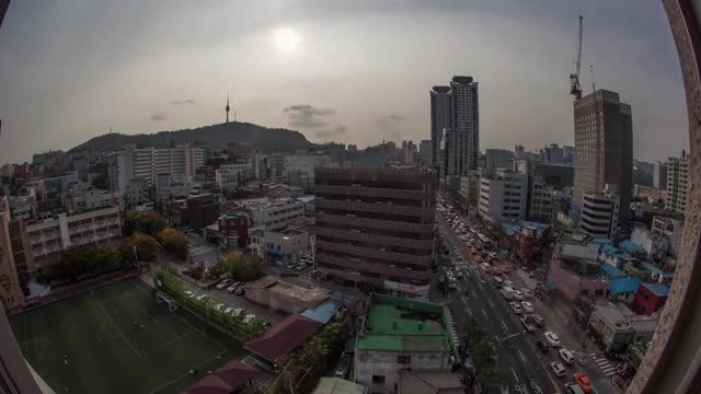 Time Lapse Of Seoul City: Stock Video