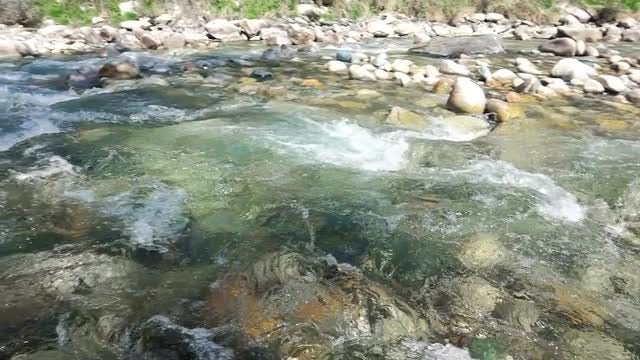 Glacial River In The Mountain: Stock Video