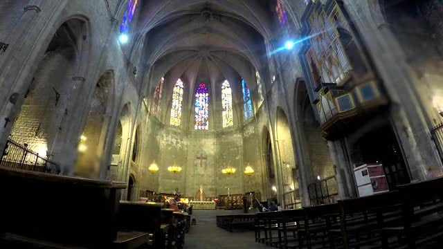 Time Lapse Of Christian Cathedral: Stock Video