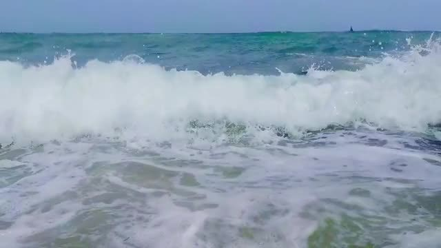 Huge Sea Waves On Beach: Stock Video