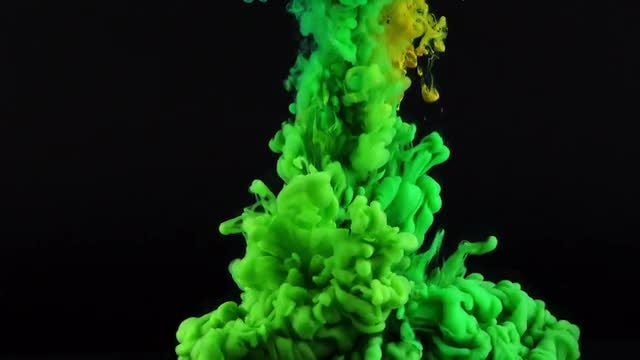 Abstract Green Ink Spread: Stock Video