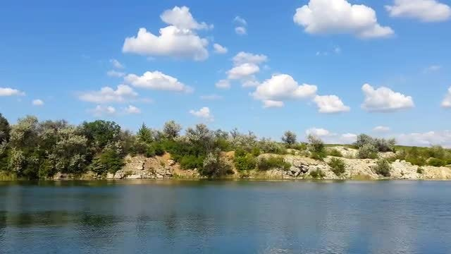 Time Lapse Of Mountain Lake: Stock Video