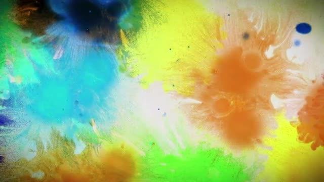 Paint Splatter Background: Stock Motion Graphics