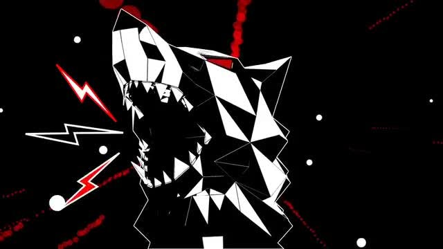 Low Poly Wolf Head VJ Loop: Stock Motion Graphics