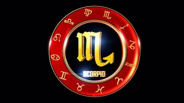 Scorpio Western Zodiac Sign: Stock Motion Graphics
