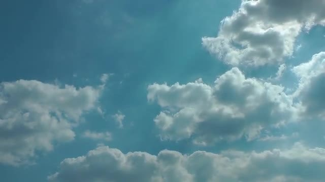 Blue Sky With Clouds Time Lapse: Stock Video