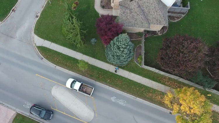 4K Aerial Shot Of Suburban Houses: Stock Video