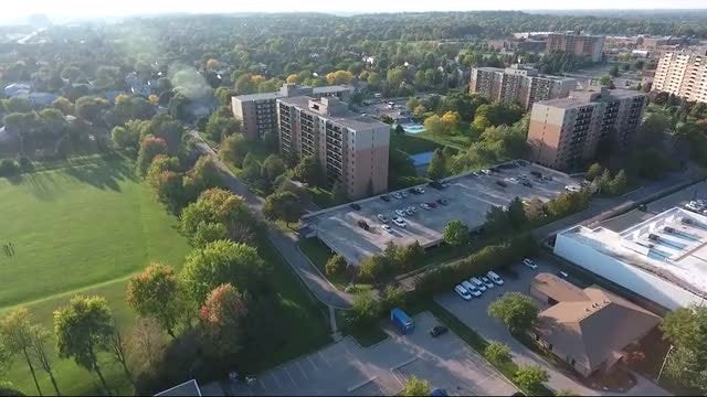 Apartment Complexes With Green Park: Stock Video