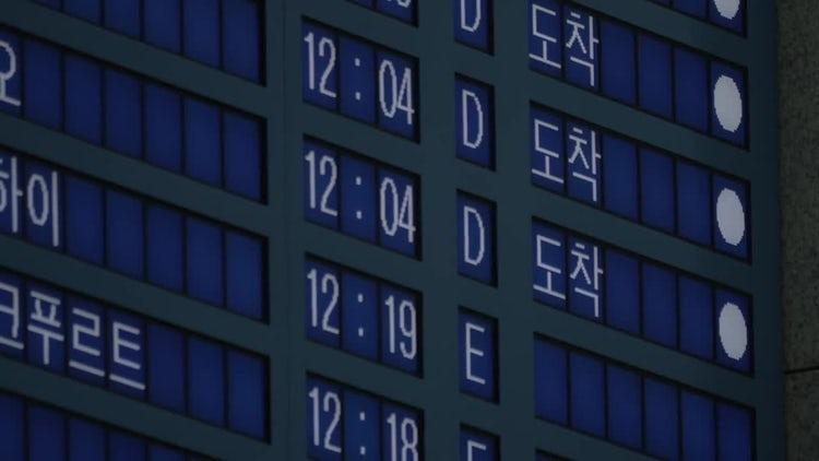 Multi-Lingual Arrivals Board: Stock Video
