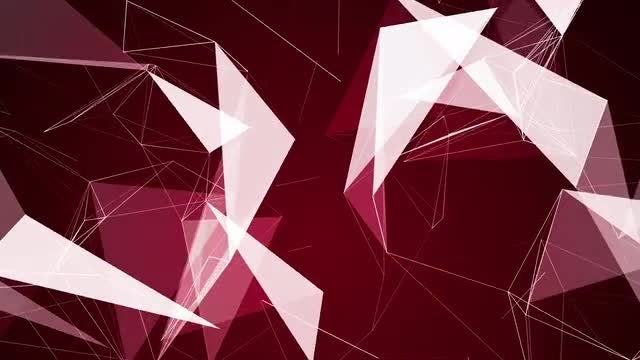 Plexus With 2D-3D Polygonal Sides: Stock Motion Graphics