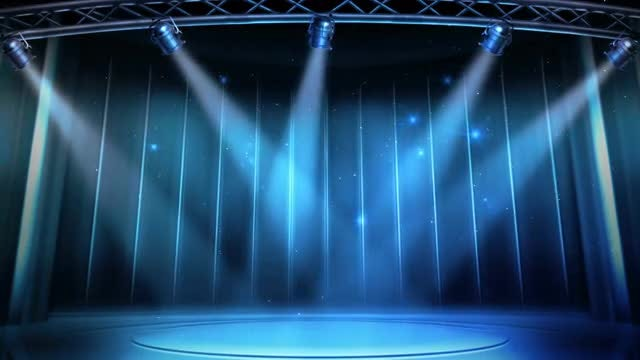 Blue Stage Lighting Background: Stock Motion Graphics