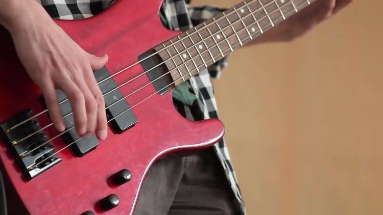 Man Playing Electric Guitar: Stock Video