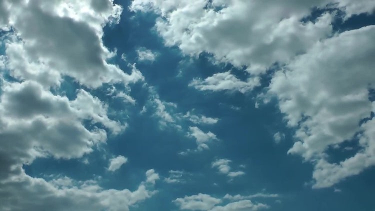 Beautiful Clouds On Blue Sky: Stock Video