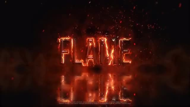 Fire Metal Logo: After Effects Templates