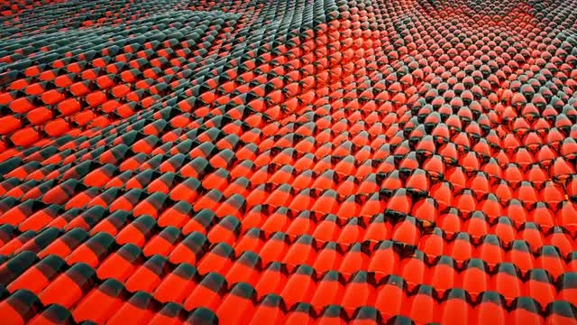 Red Abstract Waves: Stock Motion Graphics